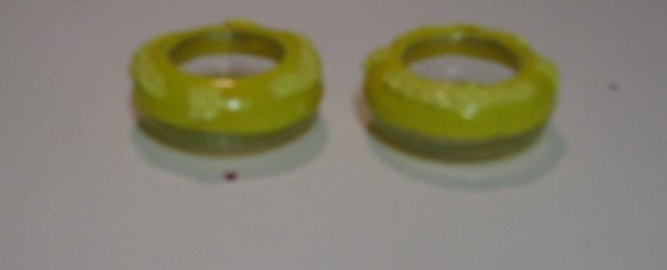 Yellow Polymer Clay Tealite Holders