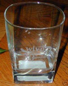 "UNUSUAL-""WLVP 30th Anniversary"" etched rocks glass~NEW!"