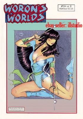 Woron's Worlds #3A~Signed by Steve Woron~Female Fantasy