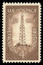 1959 4c Petroleum Industry, 100th Anniversary Scott 1134 Mint F/VF NH - $0.99