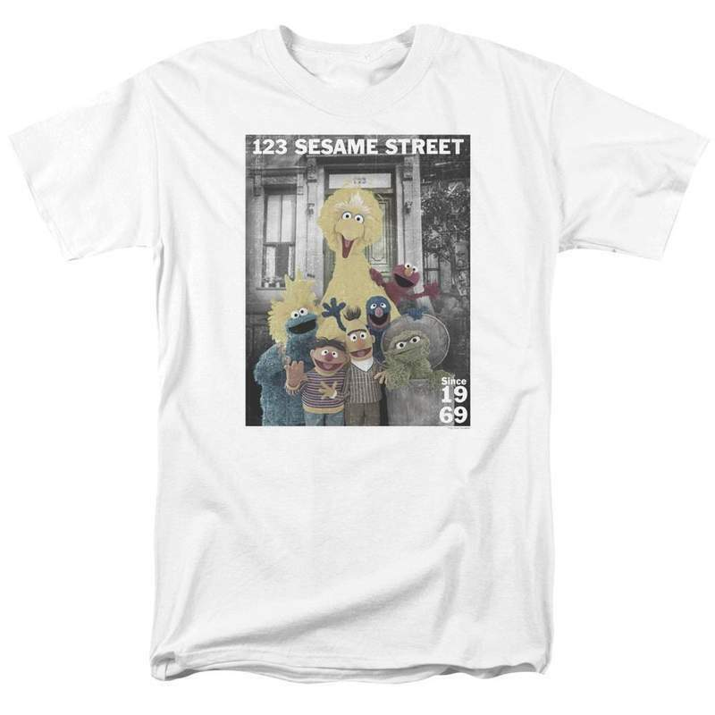 123 Sesame Street Since 1969 T-shirt educational TV series graphic tee SST138