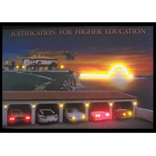 """Justification For Higher Education Neon Sign Led Picture 36""""x24"""""""