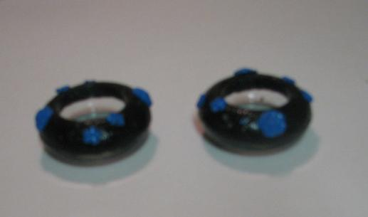 Black and Blue Polymer Clay Tealite Holders