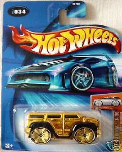 Hot Wheels 2004 FE 034 First Edition Blings Hummer  GOLD Exclusive