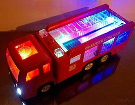 WolVol Electric Fire Truck Toy With Stunning 3D Lights and Sirens, goes ... - $20.68