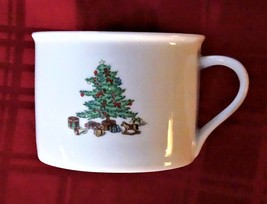 CHRISTMAS CUP MUG TIENSHAN HOLIDAY HOSTESS 8oz Tree Gold Gilt Accent - $3.33