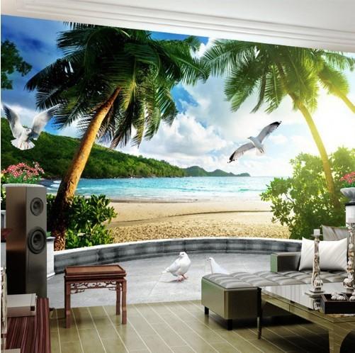 3D Photo Wall Mural Beach Balcony and 50 similar items