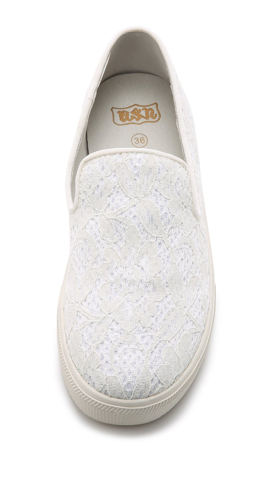 Ash Women's Illusion Lace Slip On Sneakers, Off White, 38 EU (8.5 B(M) US Women)
