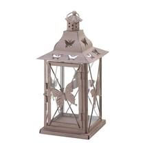Metal Lanterns, Butterfly Decorative Floor Patio Rustic Outdoor Lanterns - $29.39