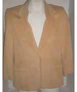 Golden YELLOW Corduroy Lined Jacket Blazer Size 12 Vintage Country Subur... - $14.85