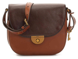 New Fossil Women Emi Leather Saddle Bags Variety Colors - $138.59