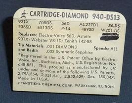NEEDLE CARTRIDGE for Zenith 142-88 89 Astatic 93TX  93T1 940-DS73 EV 51 image 2