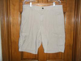 Chaps Flat Front Khaki Cargo Shorts - Size 34 - $13.37
