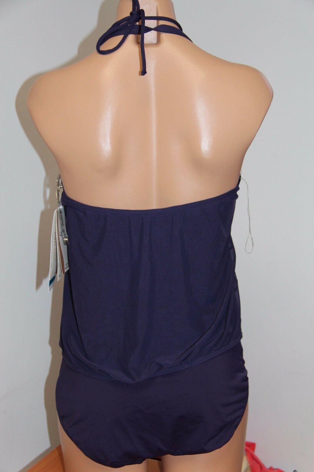 NWT Coco Reef Swimsuit Bikini 1 one  piece Sz 12 36D Deep Amethyst