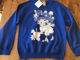 Happy Hanukkah Sweatshirt NWT Medium - $21.38