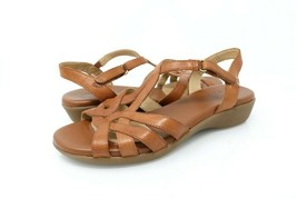 Naturalizer Womens 9 M Nella Comfort Sandals Tan Brown Leather Slingback - $21.99