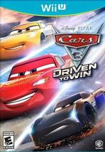Cars 3: Driven to Win - Wii U Nintendo Wii U NEW - $42.47