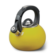 Mr. Coffee 2 Quart Whistling Tea Kettle Yellow Stainless Steel Safe Easy... - €28,31 EUR