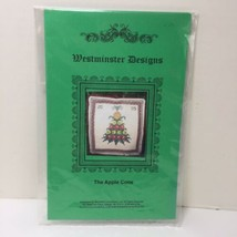 The Apple Cone Cross Stitch Pattern Westminister Designs Colonial Christmas - $7.84