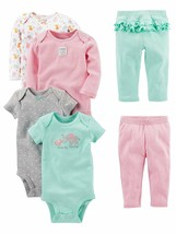 Simple Joys by Carter's Baby Girls' 6-Piece Bodysuits (Select, Pink/Mint... - $36.45