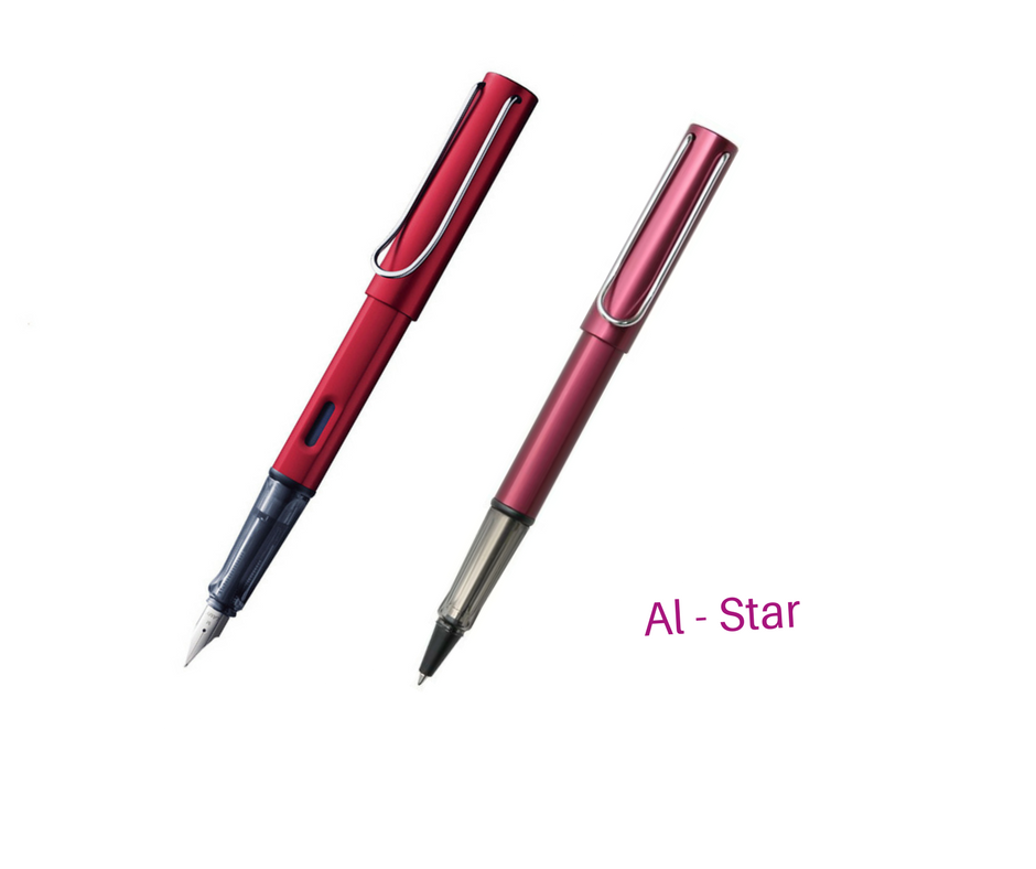 Lamy AI-star Purple Pink Roller Ball Pen + Fountain Pen for choose