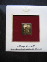 MARY CASSATT PAINTER 22kt Gold Stamp Replica FDI FDC Golden Cover - $6.92