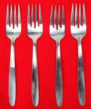 """4X Salad Dessert Forks Englishtown ENS2 Stainless Glossy Flatware 6 1/2""""... - $15.84"""