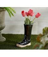 "11.5"" Indoor/Outdoor Ceramic Boot Planter by Valerie / Black                 CB3 - $48.26"