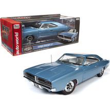 1969 Dodge Charger R/T Hardtop B3 Light Blue Metallic with White Interio... - $106.80