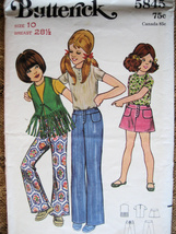 Vintage 1970s Pattern Girls size 10 Vest Bell Bottoms B5815 - $5.95