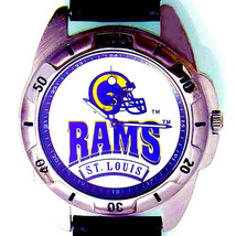 St. Louis Rams NFL, Fossil New Unworn Rare Vintage 1995, Leather Band Watch! $75 - $74.10