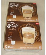 McCafe Latte Coffee Keurig K-Cups +Milk Frother Packets 24 Total Lattes... - $29.69