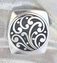 Mid Century Modern Enamel Silvertone Scarf Clip 60s - $12.82