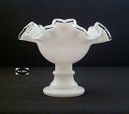 Fenton Silver Crest Ruffled Comport Candleholder image 3