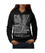 Spain City Barcelona Sweatshirt Hoody Town Map Women Hoodie - $21.99+