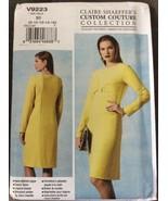 Vogue Sewing Pattern V9223 Misses Dress Claire Shaeffer B5 8 10 12 14 16... - $10.44