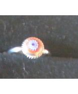Venetian Glass Sterling Silver 5.5 Ring - $6.00