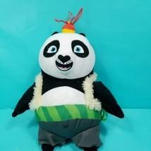 "Kung Fu Panda Poe Plush 12"" Stuffed Animal Red Hat Sweater Brown Vest Green  - $15.83"