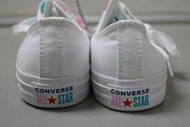 NIB NEW Men 8.5 Converse Shoe Sneaker White Rapid Teal Peony Pink Box CTAS OX image 4