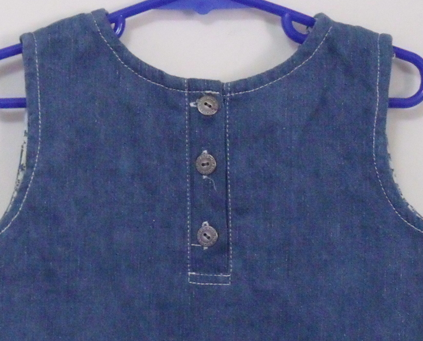 Girls Kids Headquarters Blue Denim Sleeveless Top Size 5