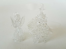Angel & House Clear Glass Christmas Ornaments - $11.51