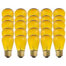Yellow S14-11w Bulb - Patio string light replacement Bulb - 25 Bulbs - $30.57