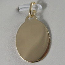 SOLID 18K WHITE YELLOW GOLD MEDAL VIRGIN MARIA MADONNA ENGRAVABLE, MADE IN ITALY image 3