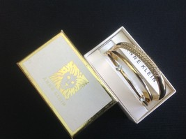 Anne Klein Women's Swarovski Crystal-Accented Gold-Tone Bangle set of 3 - $22.99