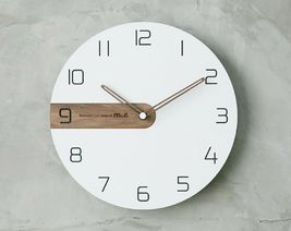 Moro Design Real Wood Nine Wall Clock non Ticking Silent Modern Clock (Classic) image 4