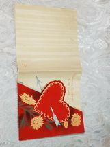 """OLD VINTAGE """"VALENTINE GREETINGS TO TEACHER"""" VALENTINE'S DAY CARD, GOOD COLOR! image 4"""