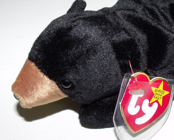 Ty Beanie Babies NWT Blackie the Black Bear Retired
