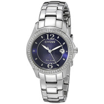 Citizen Eco-Drive Silhouette Ladies Crystal Dress Watch FE1140-86L NEW  - $108.16