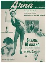 Sheet Music ~ Anna ~ (EI.N.Zumbon) Silvana Mangano ~ by Vatro & Engvick ... - $8.56