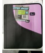 New Tech Gear Black & Lavendar Zipper Binder - $10.89